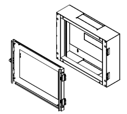 Wall Mounting Rack Cabinet rear section double section