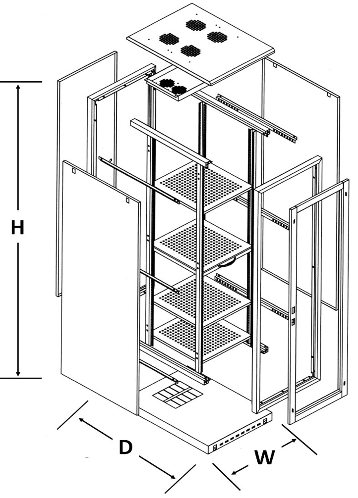 drawing for cabinets; 19 FREE STANDING RACK
